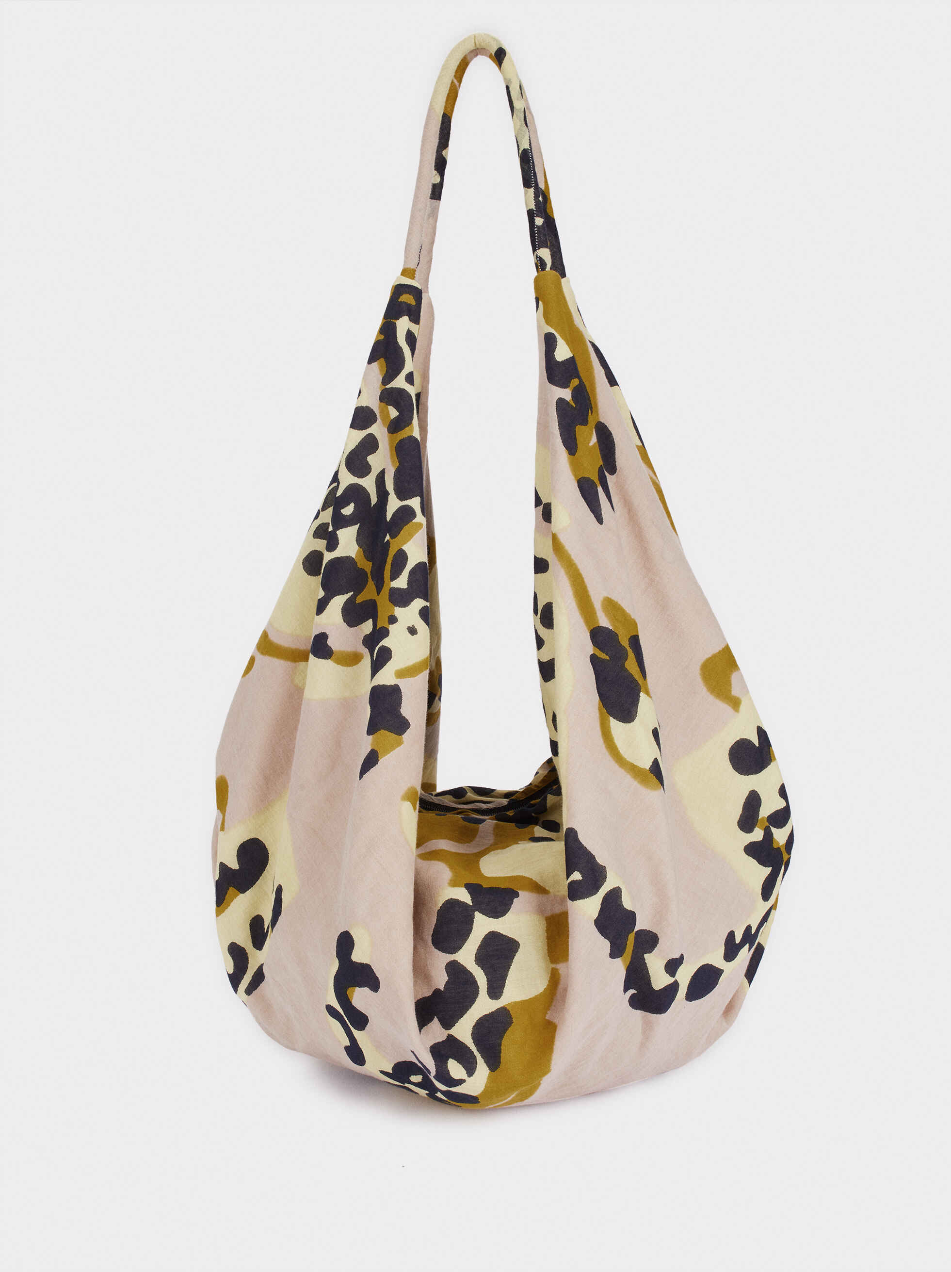 Bolso Shopper Estampado Animal, Rosa, hi-res