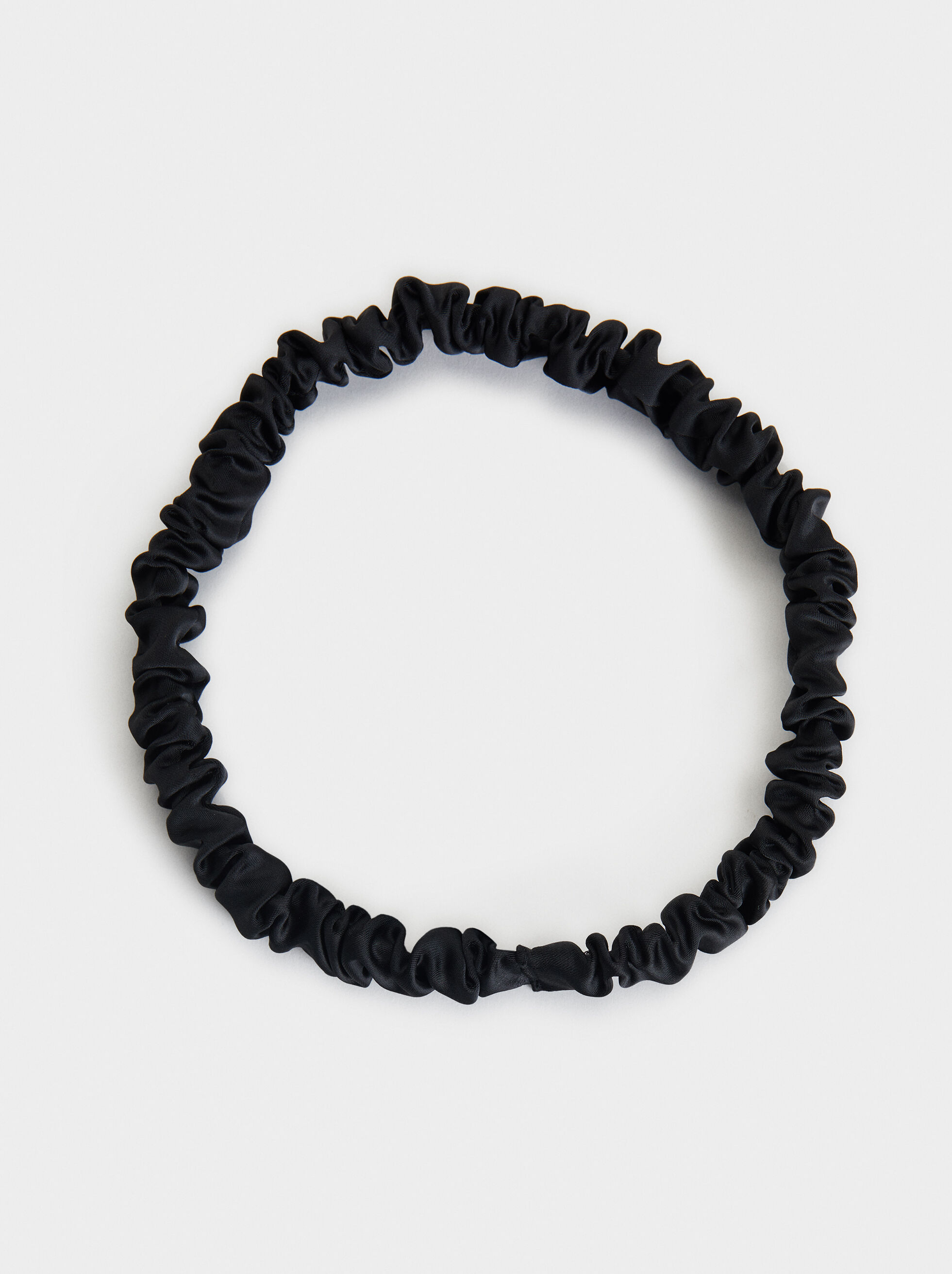 Gathered Headband, Black, hi-res