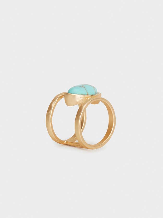 Wanderings Ring With Stone, Beige, hi-res