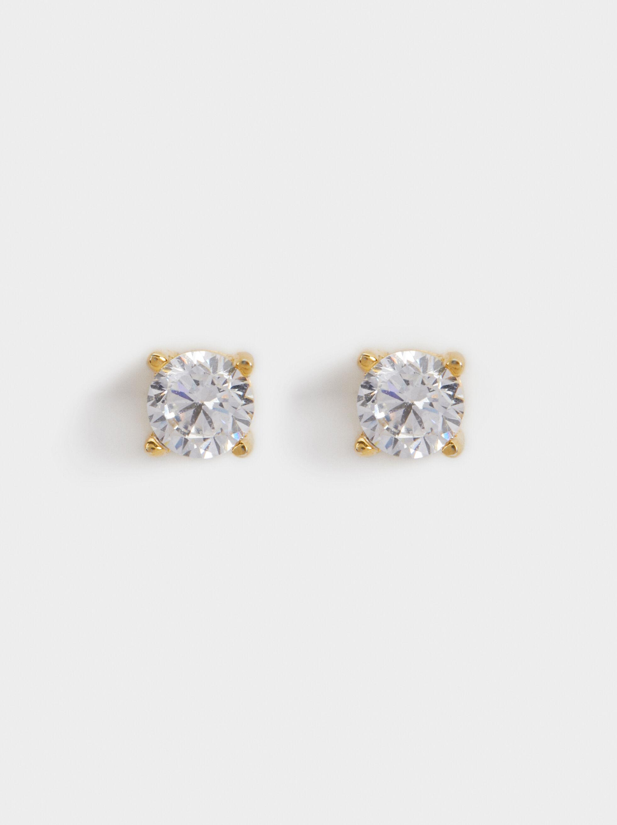 925 Sterling Silver Short Earrings, , hi-res
