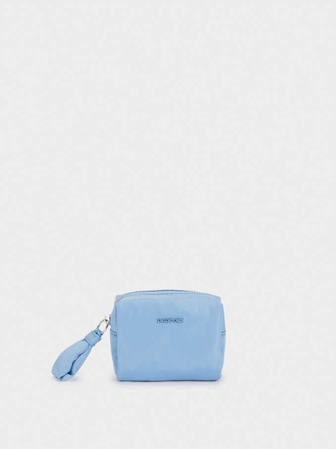 Nylon Plain Multi-Purpose Bag, Blue, hi-res