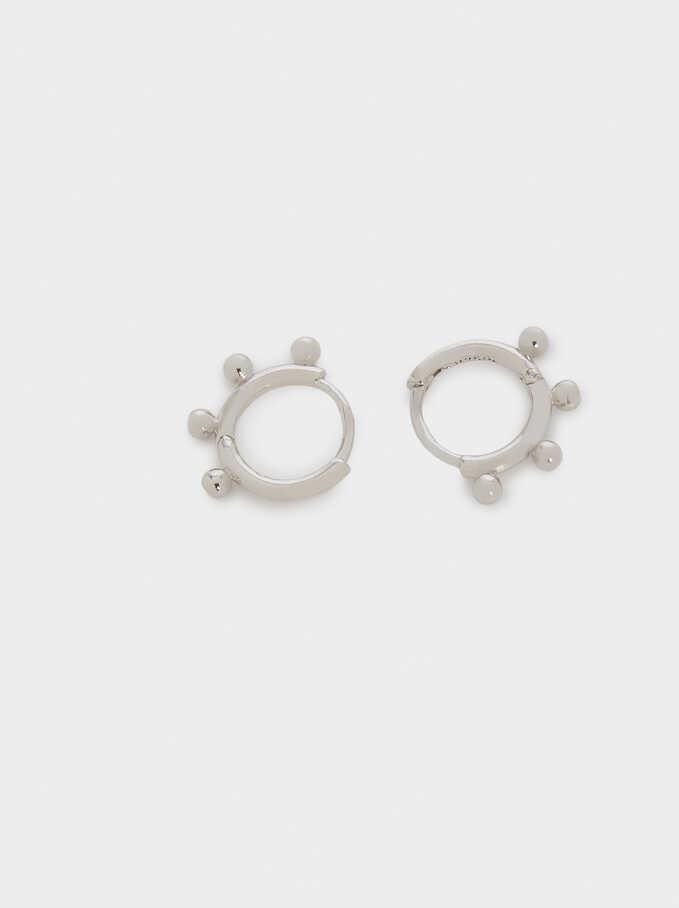 925 Sterling Silver Small Hoop Earrings, Silver, hi-res
