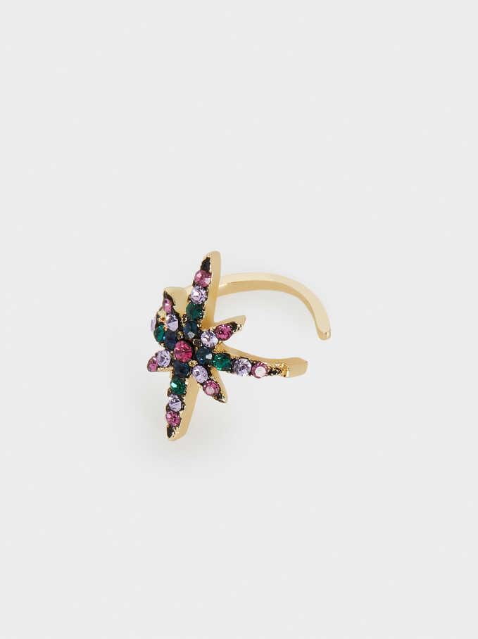 Small Multicolour Crystal Earcuffs, Multicolor, hi-res