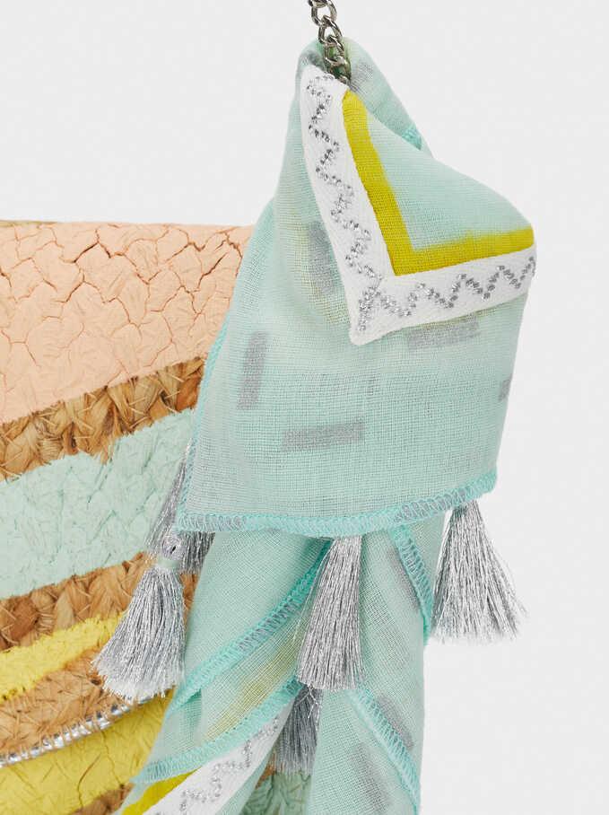 Raffia Textured Envelope Party Bag, Yellow, hi-res