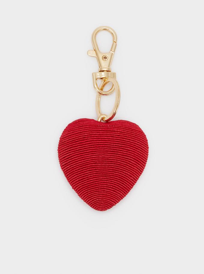 Heart Key Ring, Red, hi-res