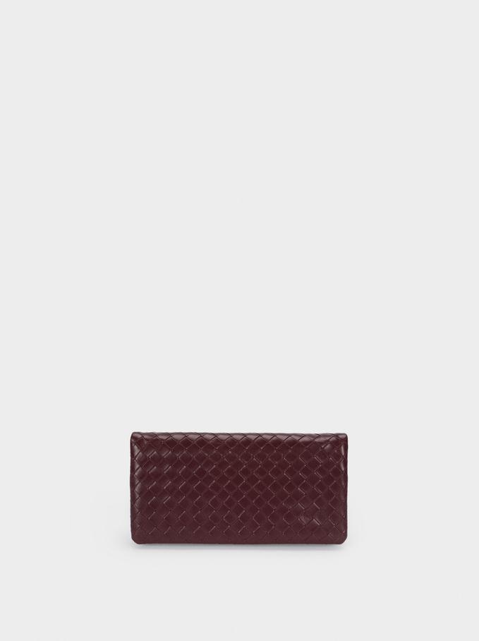 Braided Multipurpose Bag With Shoulder Strap, Bordeaux, hi-res