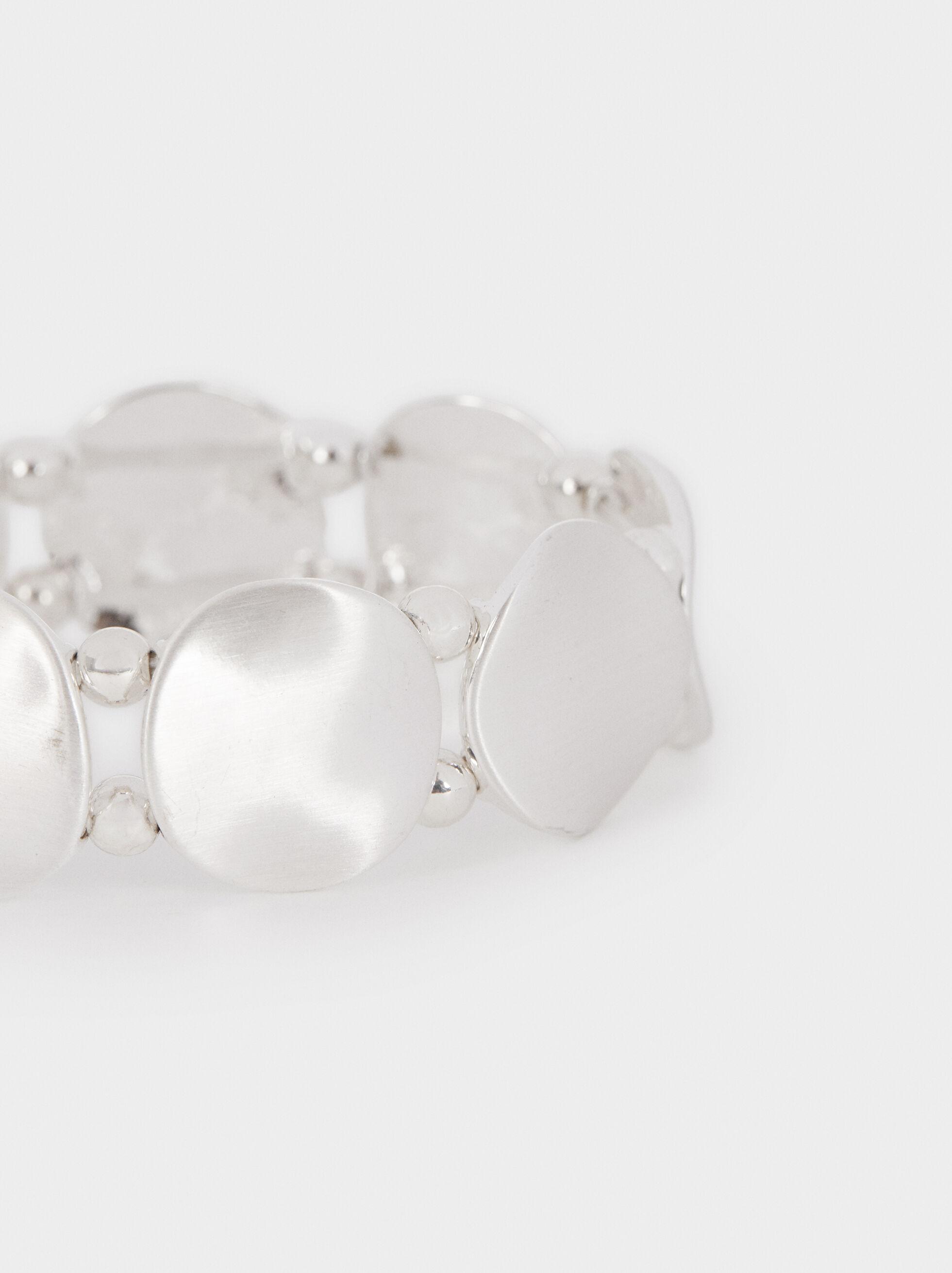 Bracelet Élastique Métallique, Argent, hi-res