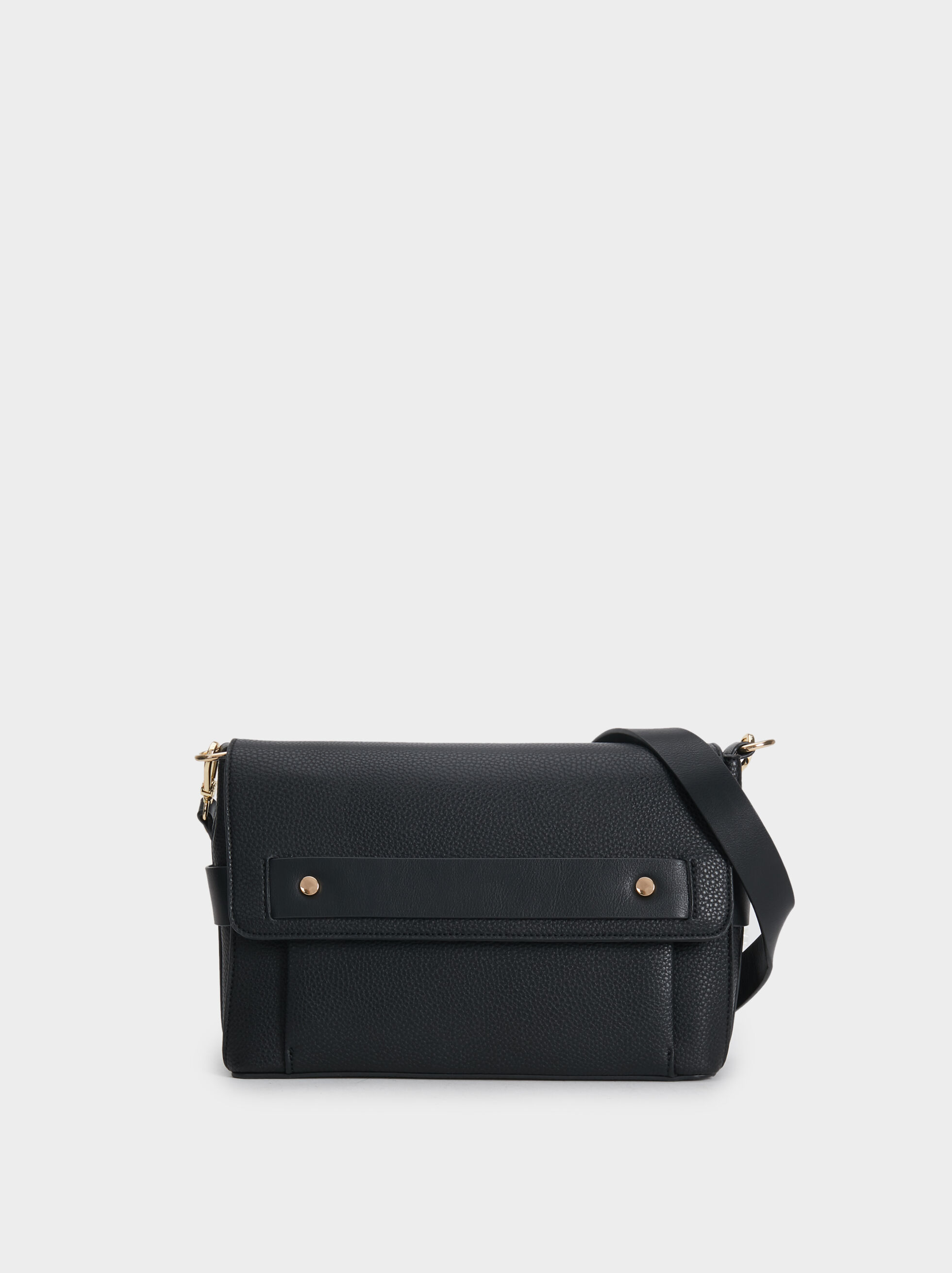 Faux Leather Crossbody Bag, , hi-res