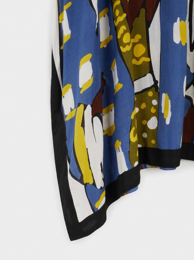 100% Modal Printed Dress, Ecru, hi-res