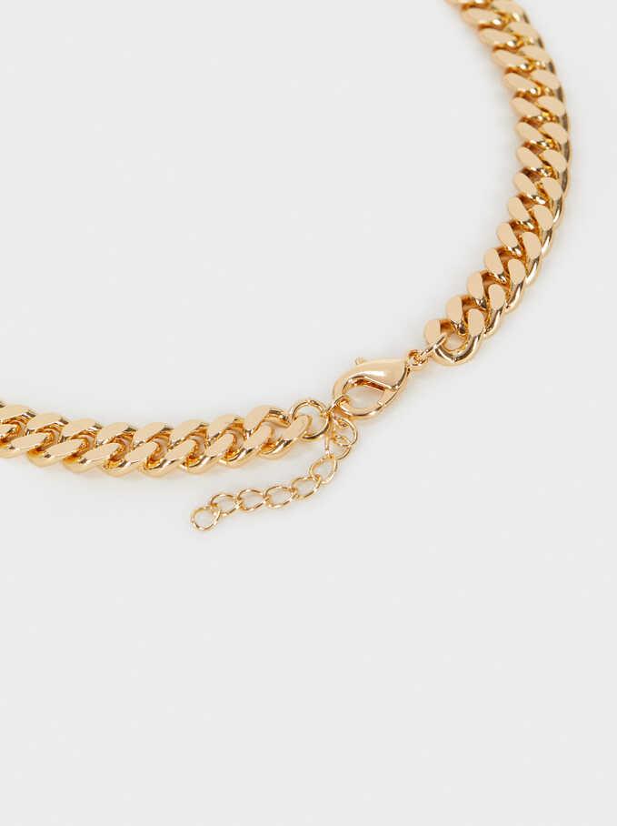 Collar Cadena Corto Dorado, Dorado, hi-res