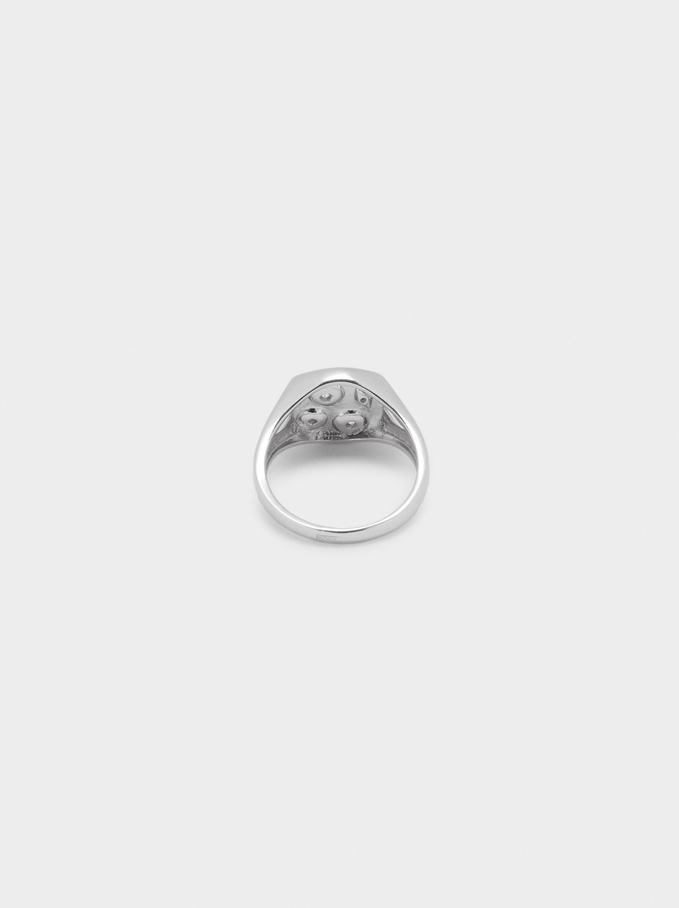 925 Silver Stars Signet Ring, Silver, hi-res