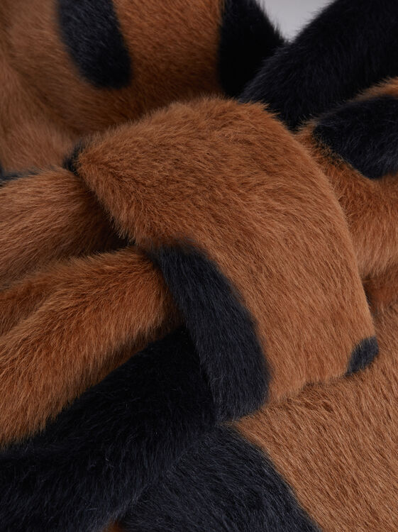 Fur Stole, Brown, hi-res