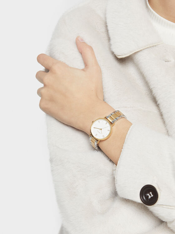 Watch With Two-Tone Strap, , hi-res