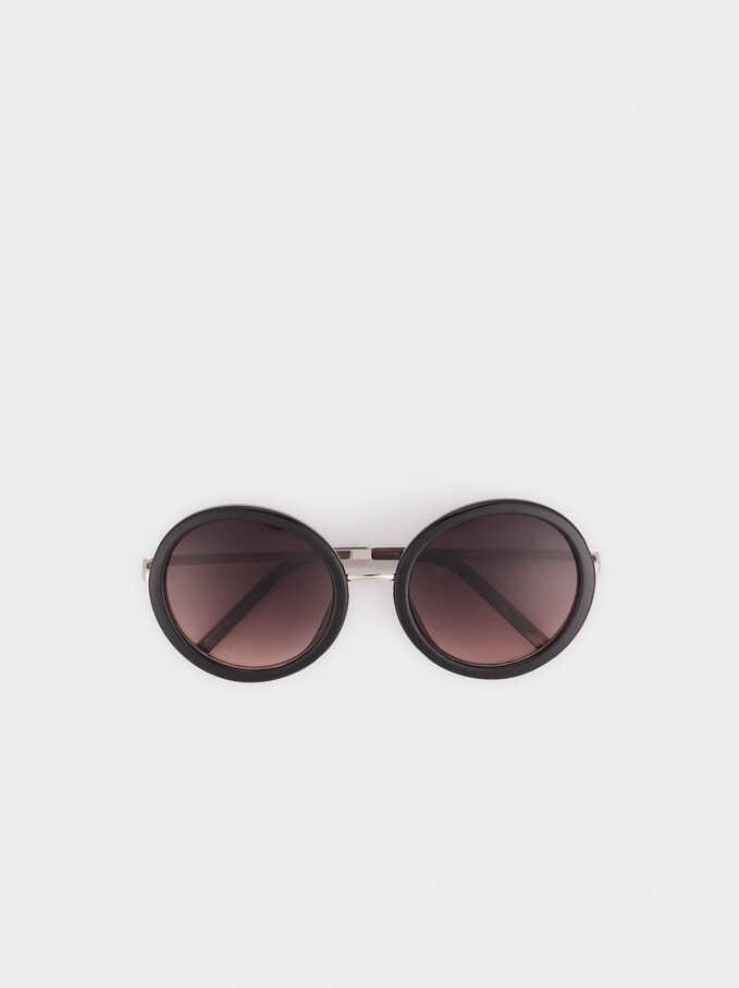 Gafas De Sol De Pasta Redondas , Negro, hi-res