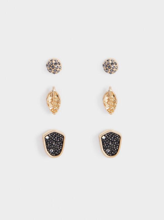 Basic Earring Set, Multicolor, hi-res