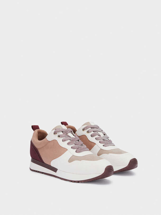 Online Exclusive Contrast Sneakers, Pink, hi-res