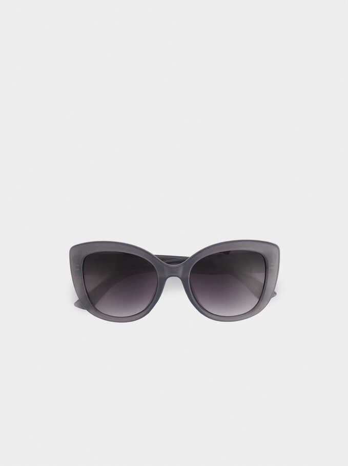 Sunglasses With Resin Frame, Grey, hi-res