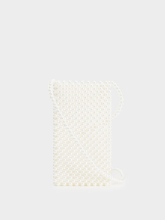 Pearly Mobile Phone Case, White, hi-res