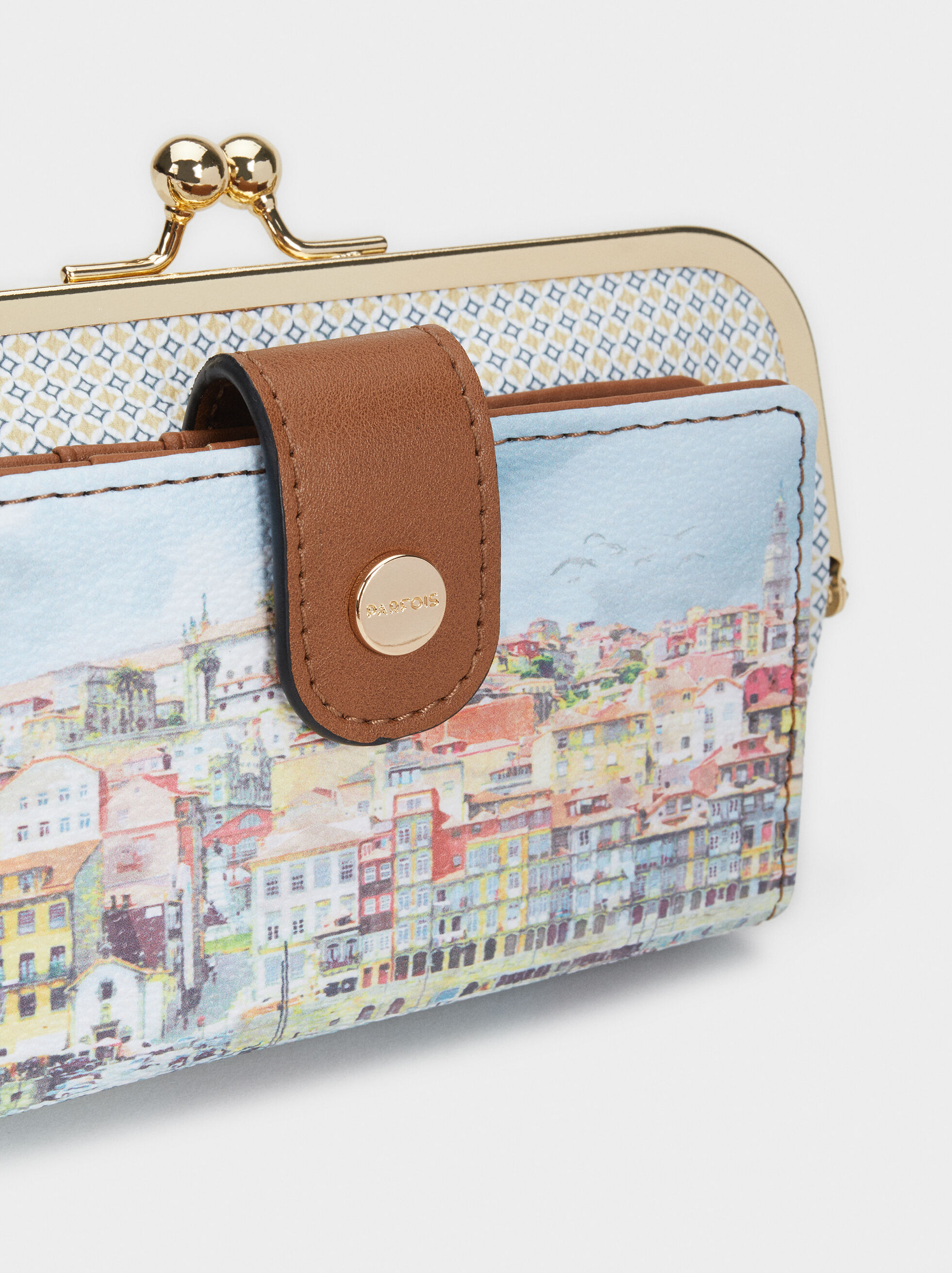 Porto Print Small Purse, Blue, hi-res