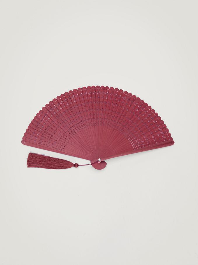 Faux Wood Fan, Bordeaux, hi-res
