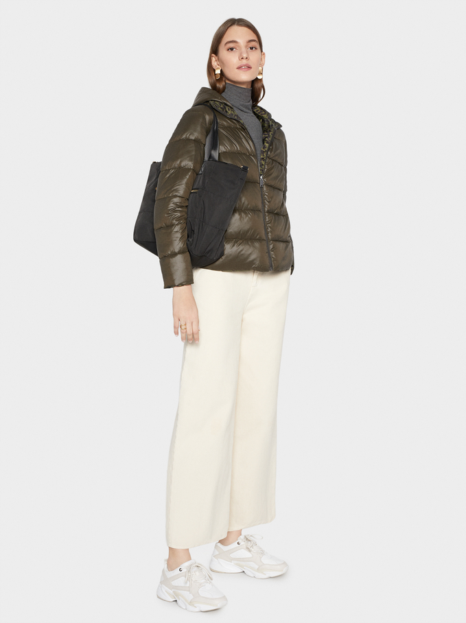 Reversible Quilted Jacket Online Exclusive, Khaki, hi-res