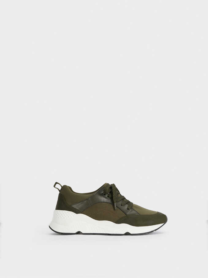 Neoprene Trainers, Khaki, hi-res