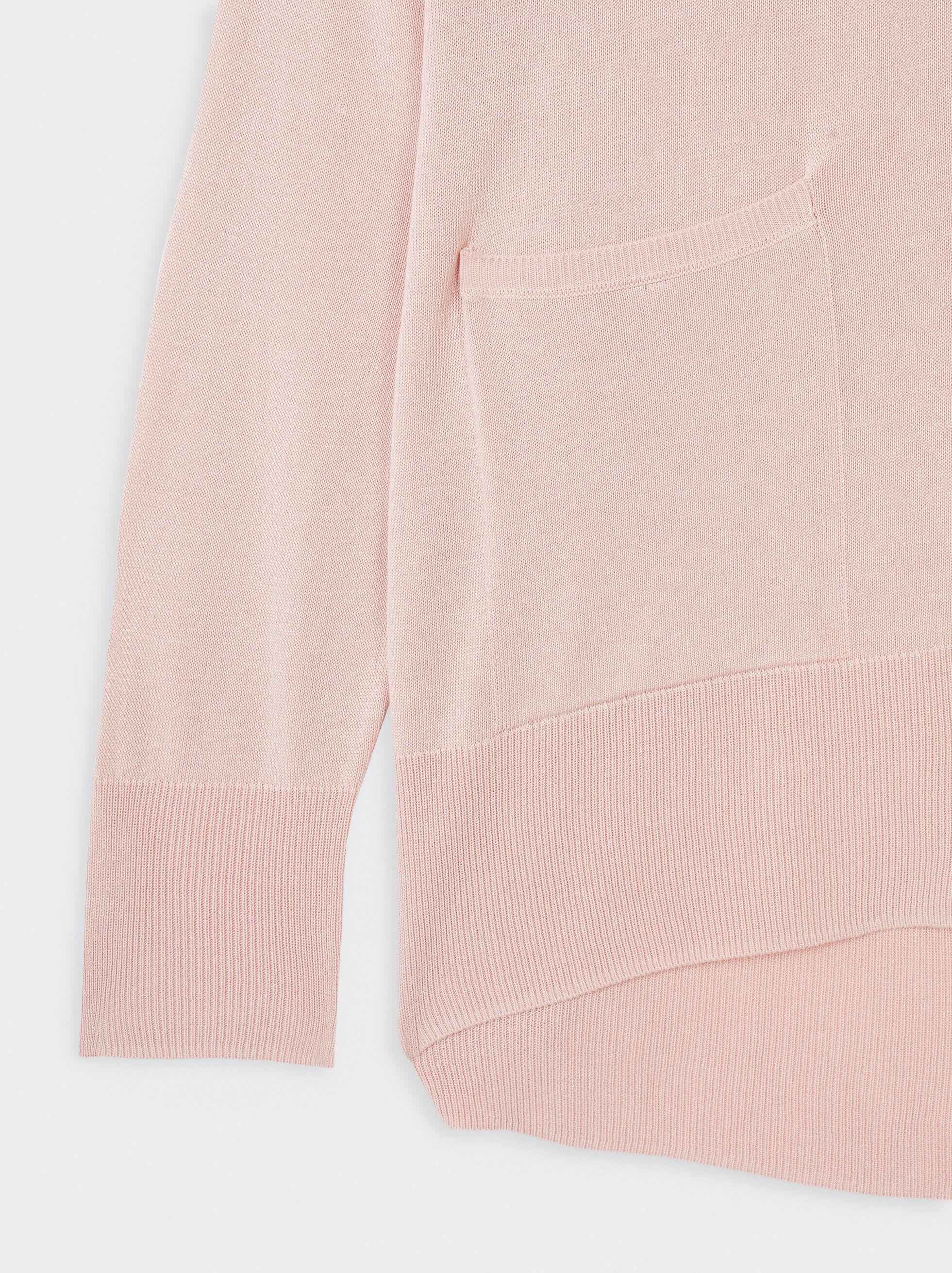 Knit Cardigan, Pink, hi-res