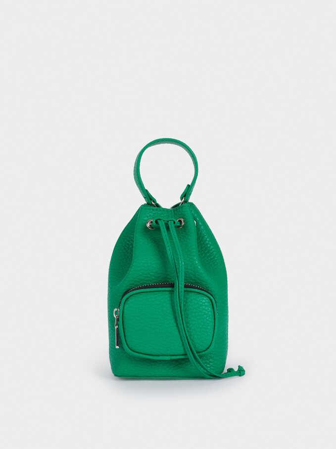 Chain Handle Bucket Bag, Green, hi-res