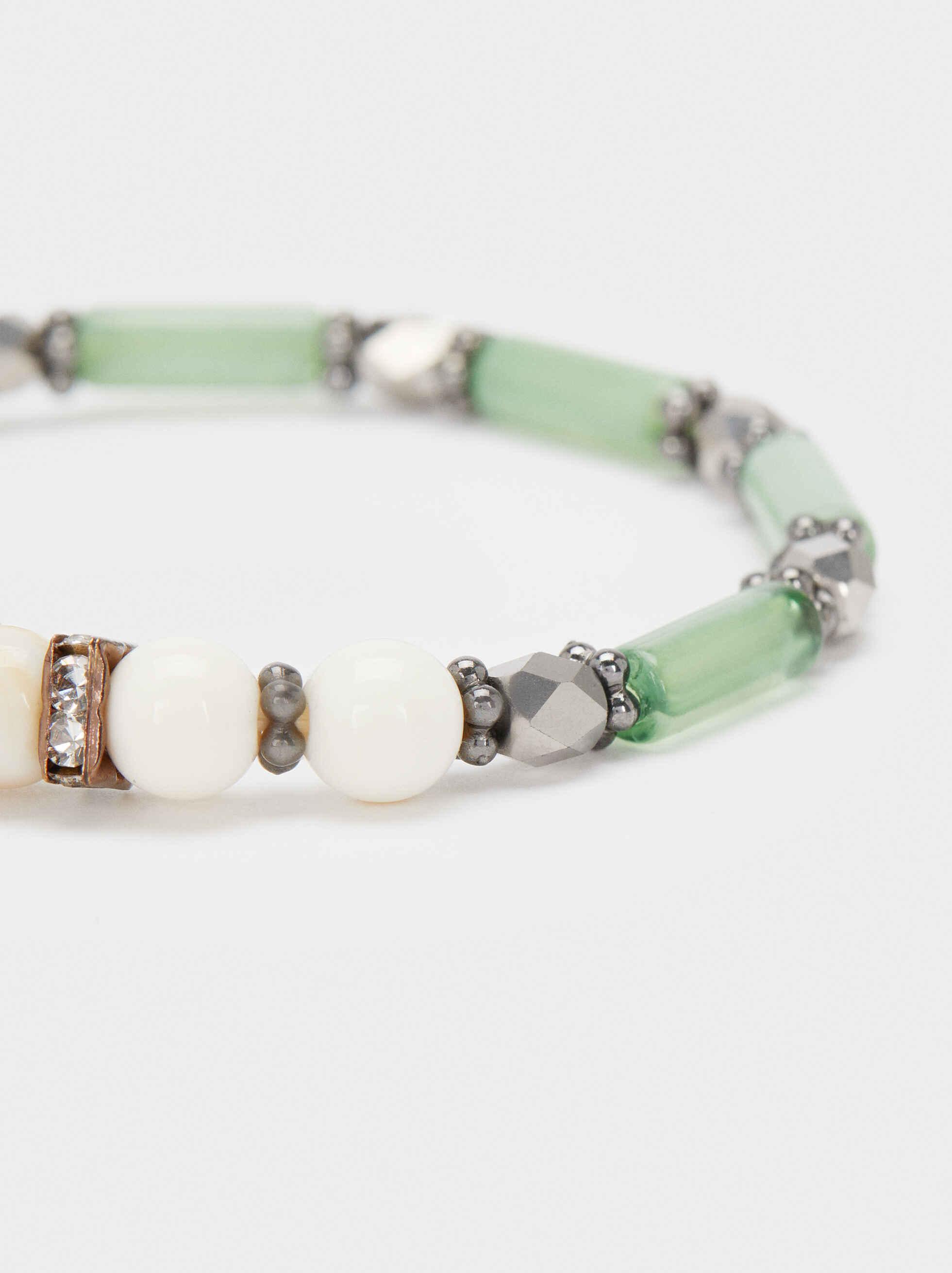 Elastic Bracelet With Multicoloured Crystals, Multicolor, hi-res