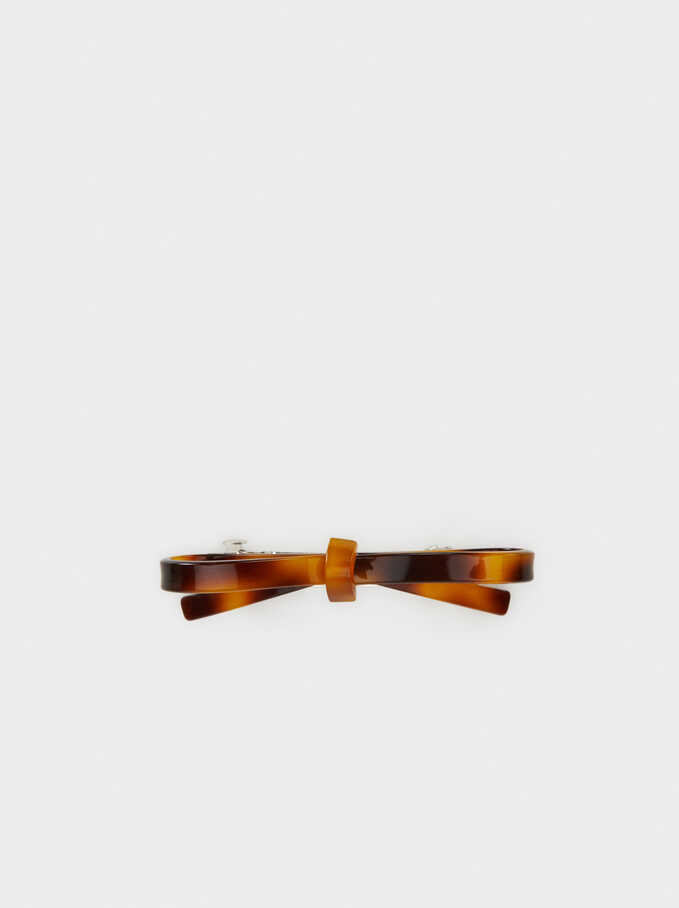 Basic Hair Clip , Brown, hi-res