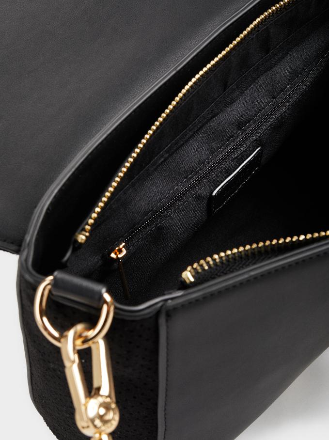 Suede Candal Cross Bag, Black, hi-res