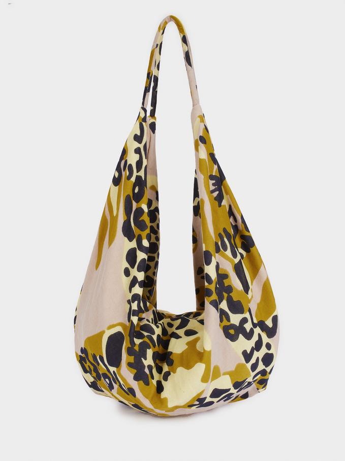 Animal Print Tote Bag, Pink, hi-res