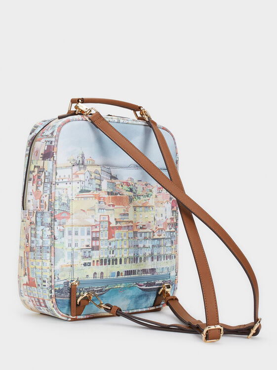 Oporto Travel Travel Backpack, Camel, hi-res