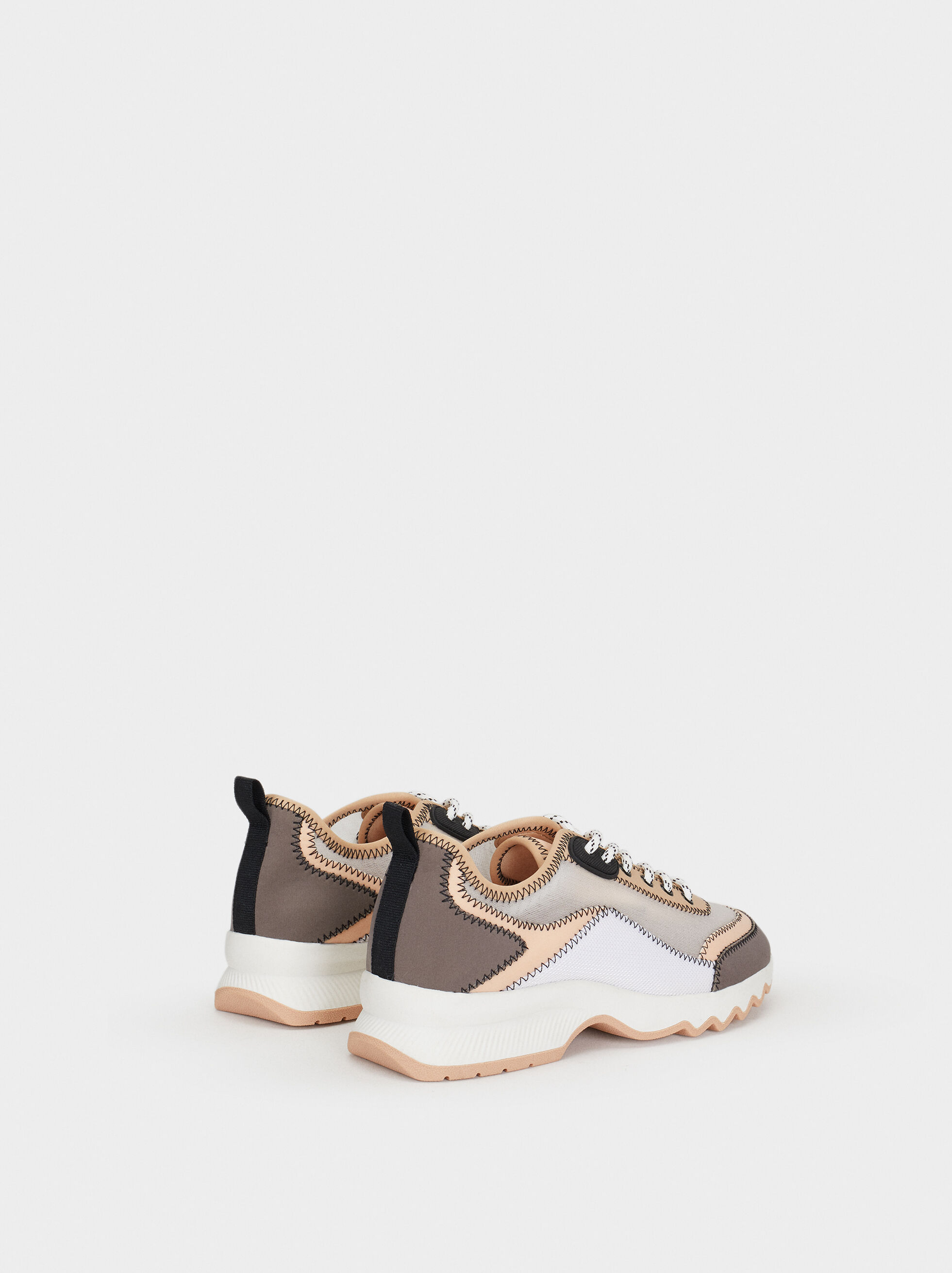 Trainers With Mesh Trim, Grey, hi-res