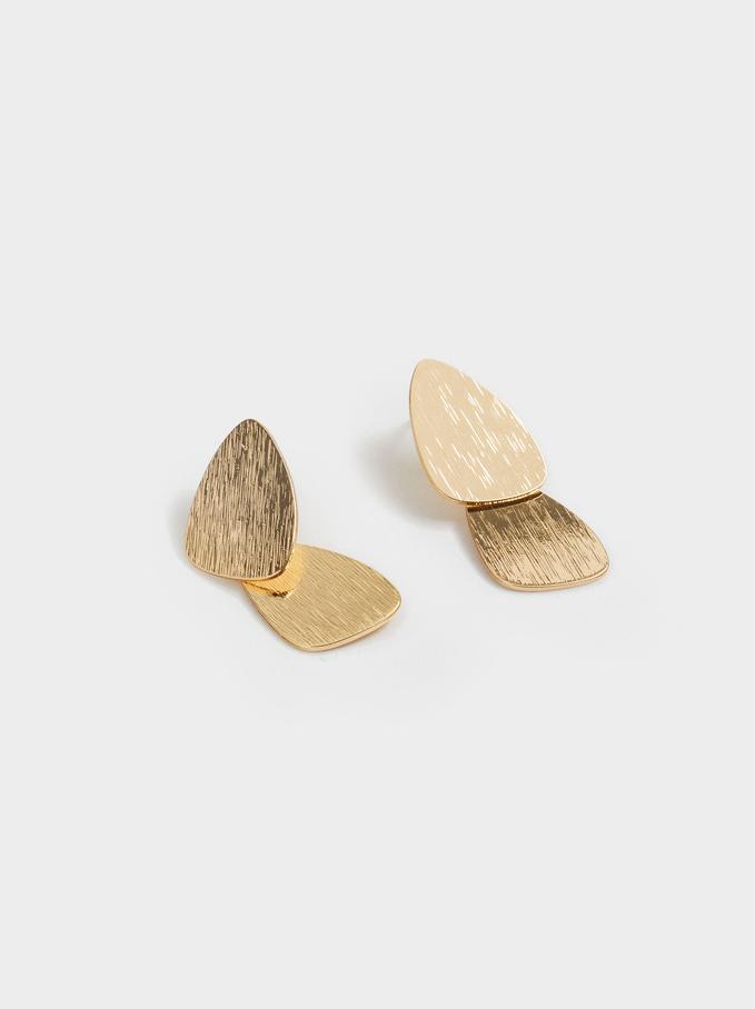 Dangle Golden Earrings, Golden, hi-res
