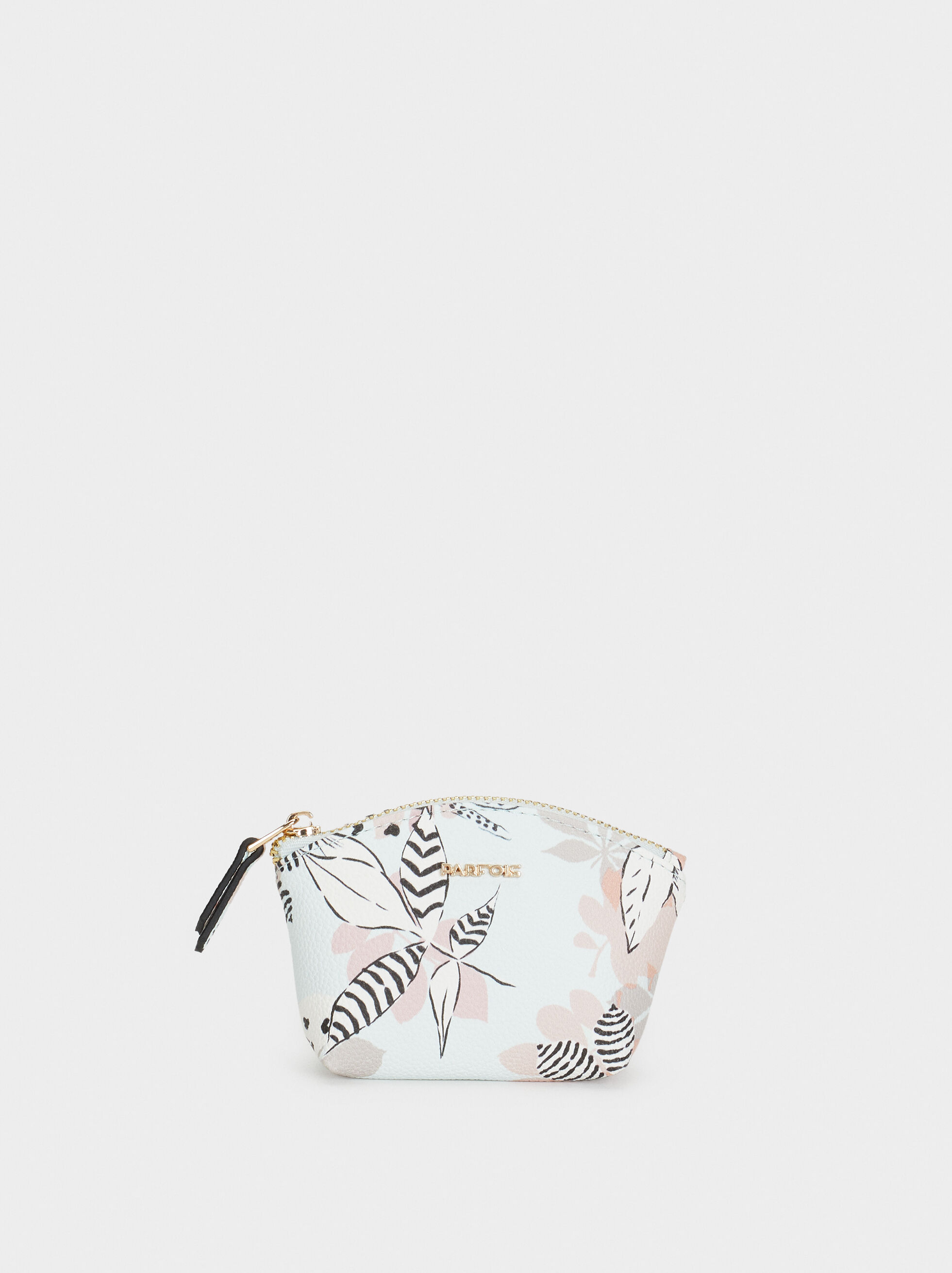Small Floral Print Purse, Blue, hi-res