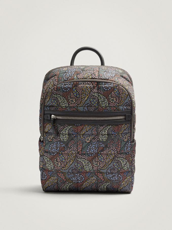 "Nylon Backpack For 15"" Laptop, Brown, hi-res"