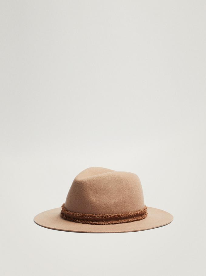 Woollen Hat, Camel, hi-res