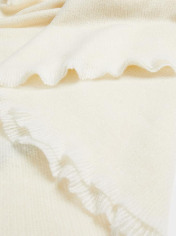 Plain Maxi Scarf, White, hi-res