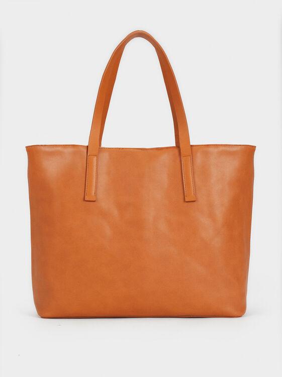 Reversible Fur Tote Bag, Ecru, hi-res