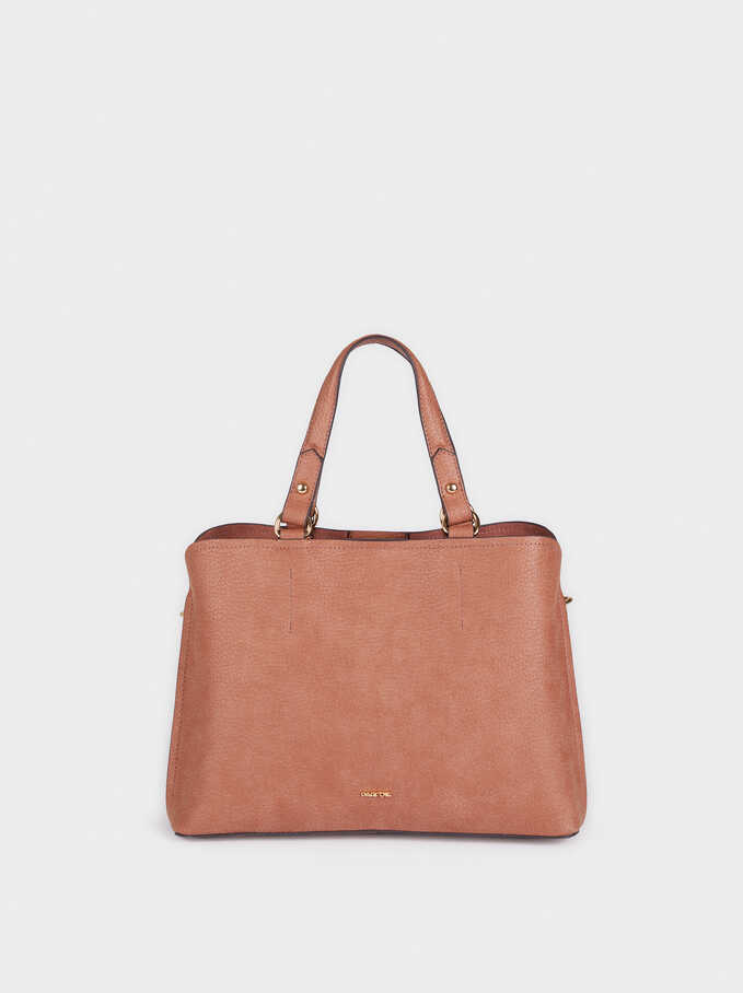 Tote Bag With Removable Strap, Coral, hi-res