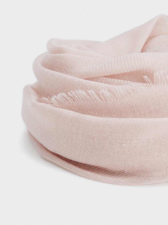 Plain Pashmina, Pink, hi-res