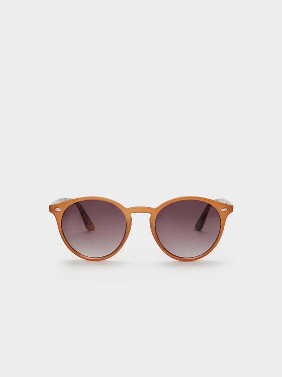 Round Sunglasses, Camel, hi-res
