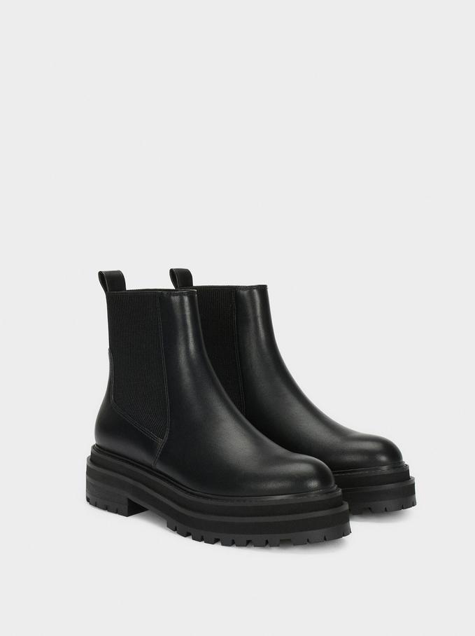 Online Exclusive Platform Boots, Black, hi-res