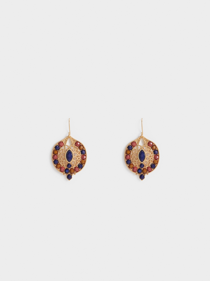 Savage Party Short Earrings, Multicolor, hi-res