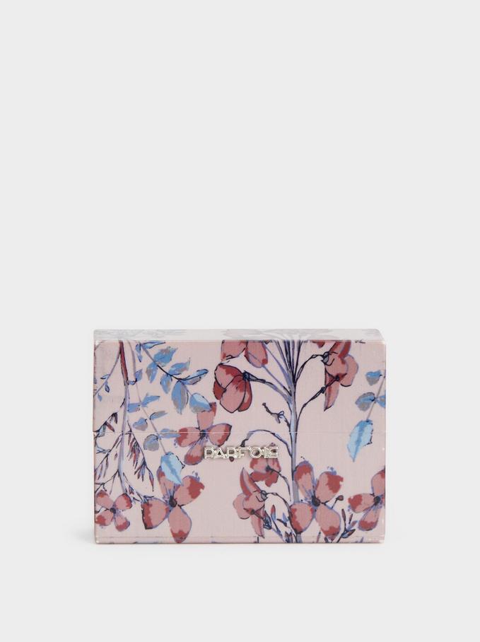 Floral Print Cigarette Box, Multicolor, hi-res