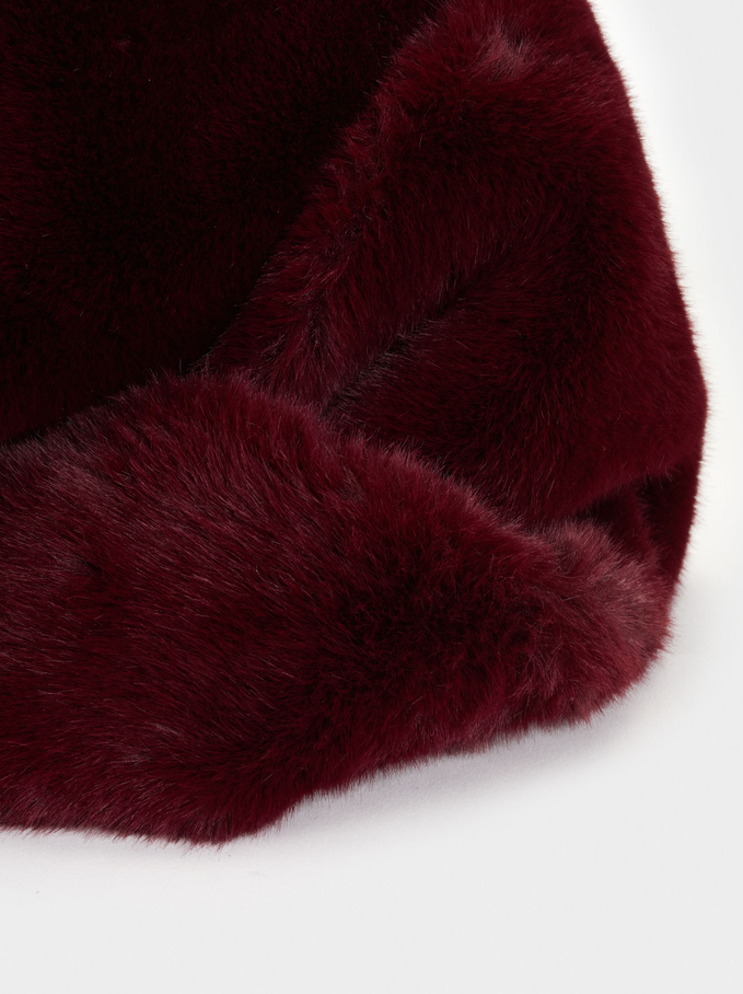 Faux Fur Snood, Bordeaux, hi-res