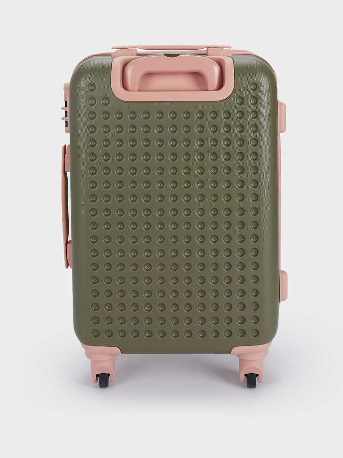 Trolley Suitcase With Zip Fastening, Khaki, hi-res