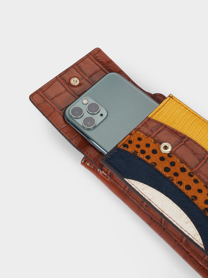 Patchwork Design Mobile Phone Case, Blue, hi-res