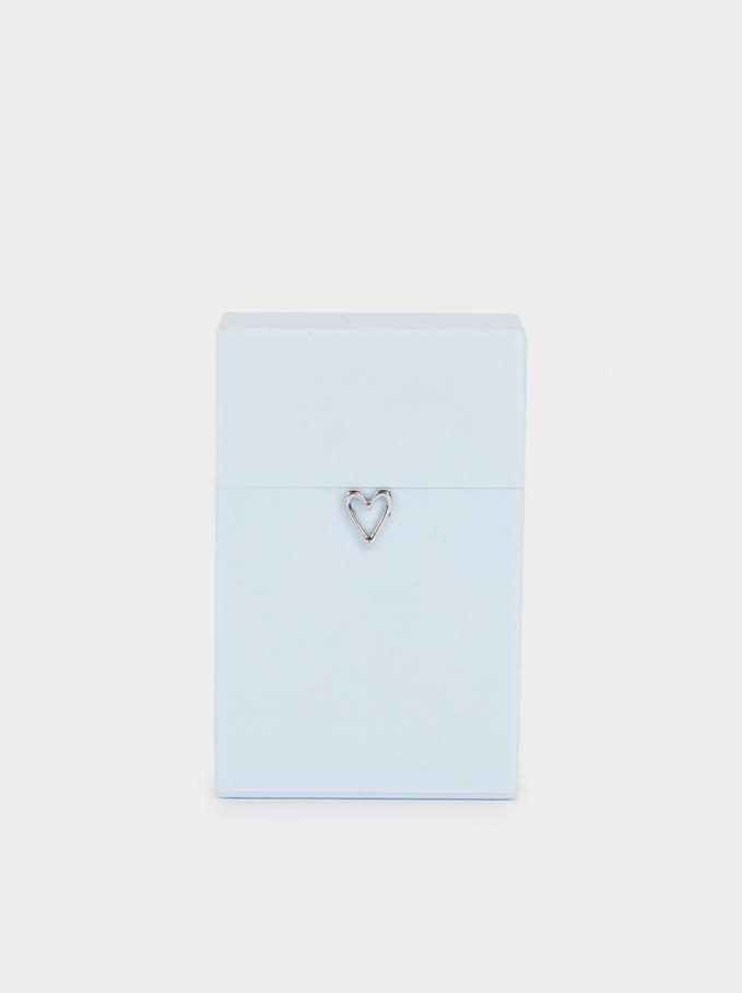 Heart Face Mask Holder, Blue, hi-res